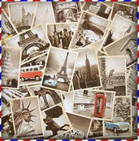 Wholesale Famous Building Vintage style poster memory postcard set Greeting Cards gift cards