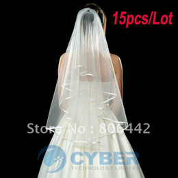 Wholesale Fashion Lady Wedding Prom Ribbon Edge Bridal Comb Veil Beige