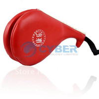 Wholesale PU Leather Taekwondo Karate Kwon Kickboxing Kick Double Face Object Practice Target Pad Red Free Shi