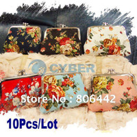 Wholesale 10Pcs Mini Cute Women Coin Purse Cosmetic Bag Key Holder Small Wallet Pocket