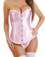Women Corset & Bustier Christmas hot seller Free shipping!pink color bra suit,party wear, wedding lingerie, push-up full-boned corset