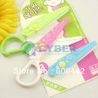 Wholesale New Plastic Safety DIY Interchangeable Head Lace Craft Scissors For Early Childhood Art Free Shippin