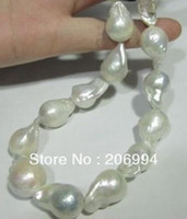 Wholesale wholesales mm aaa Freshwater pearl white baroque pearl necklace quot pearl Jewelry gift