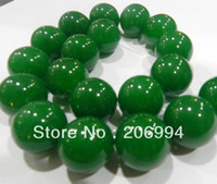 Wholesale new arrive MM Green Emerald Round Gemstone Loose Bead quot fashion jewelry