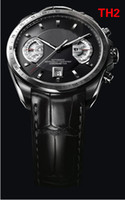 Wholesale Fashion Swiss Black Men Leather Automatic Mechanical Grand Calibre Stainless Dive Mens Watch