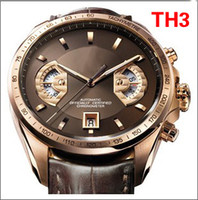 Wholesale New Luxury Swiss Automatic Mechanical Grand Calibre Men Leather Stainless dive Mens Sport Watches