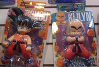 Wholesale Japan Anime Dragon Ball Goku Kuririn set PVC Action Figure SIZE CM Heiht