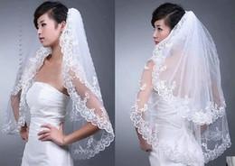 Venta caliente en el velo nupcial blanco elegante de la boda 2T para el bordado del bordado del vestido de boda nuevo