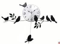 Wholesale Mute Quartz Little Bird Wall Clock Home Decorative Craft