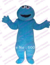 Wholesale High Quality Long Fur Cookie Monster Mascot Costume Character Costume Cartoon Costume