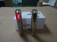 Wholesale Adjustable variable voltage electronic cigarette Vmax mah battery chrome silvery with vivi nova