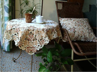 Wholesale Coffee rose of dining table cover table cloth coffee table cover dust cover with embroidery