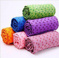 Wholesale anti skid mircrofiber yoga towel x65cm Eco friendly yoga mat colour piece
