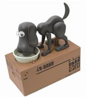 Wholesale Dog saving money box coin bank eat money dog Eating Dog Kids Coin Bank Saving Box New Choken Puppy