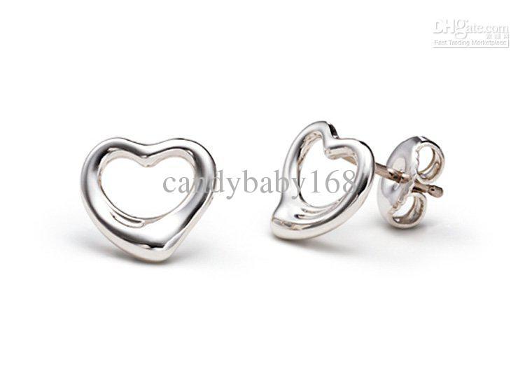Heart Silver Stud Earring