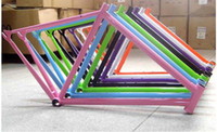 Wholesale 700c cm Fashion NEW hascrome Fixed Gear TRACK Cycling Frame With Front Fork More Color For Choice