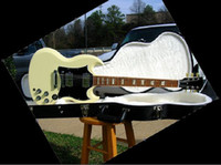 Solid Body 6 Strings Mahogany best SG Standard Cream Color Baked Maple Fret Board 498T490R Humbuckers electric guitar OEM Availabl