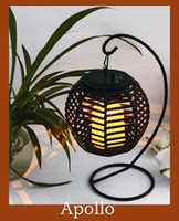 Wholesale Solar Led Imitation Hanging Rattan Basket Candle Lamp European Style Courtyard Garden Creative Light