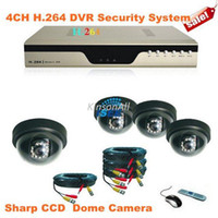 Wholesale CH H DVR Stand Alone Kit with Sharp CCD CCTV Dome Cameras Security System