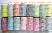 bakers gifts - 21 Colors Mixed Cotton Bakers Twine Yards Per Spool For Gift Packing By