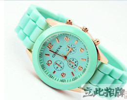man and woman watch geneva watch jelly watch for gift quartz wrist watch colors chose mixed sale A0012