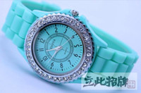 Wholesale MIN ORDR New Brand Diamonds Watch GENEVA WATCH JELLY WRISTWATCH