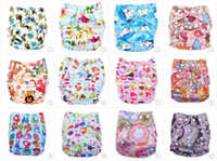 printed pocket cloth diaper 100% waterproof pul nappies Wash...