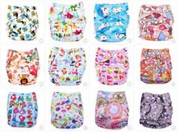 Wholesale Printed pocket cloth diaper waterproof pul nappies Washable reusable cloth diapers for baby