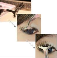 Wholesale Eyes Beauty Tools Multifunctional False Eyelashes Auxiliary Clip Stainless Tweezers