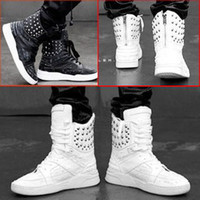 Lace-Up Men Spring and Fall 2013 Hot British tide Men fashion martin boots fashion high-top boots rivet cowhide casual shoes