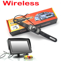 "WIRELESS CAR REAR VIEW KIT 4.3"" TFT LCD MONITOR+ 7 Led IR CAR REVERSING CAMERA KIT"