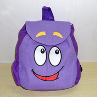 Wholesale Retail Dora the Explorer Backpack Mr Face Plush Backpack Shool Bag Purple Toddler Size New