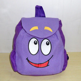 Wholesale Dora the Explorer Backpack Mr Face Plush Backpack Shool Bag Purple Toddler Size New Retail