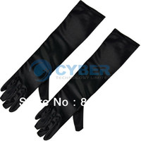 Wholesale New Nice Wedding Evening Party Clubwear Opera Sexy Long Satin Gloves Black