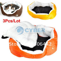 Wholesale Holiday Sale Cheapest Hot Selling Colorful Pet Cat and Dog Bed Pet Supplies Cozy Nest Colo