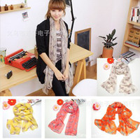Wholesale 10 Fashion Lady Scarves Scarf Small Zebra Pattern Scarf Wrap Chiffon Printed Scarves