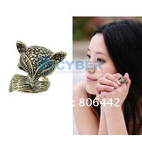 Wholesale Hot Sale New Women s Girls Vintage Retro Charming Bronze Lovely Fox Ring