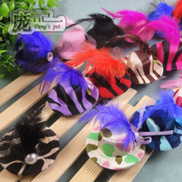 Wholesale Small Ribbon Bow For Hair - Handmade Accessories for Pet cat Cute clip hat Ribbon Bow Dogs bows Pet cap supplies. T7218