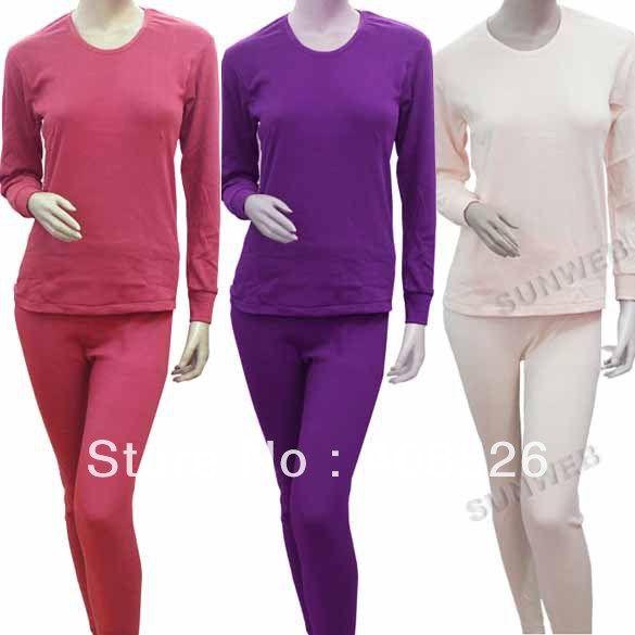 2017 Women Thermal Underwear Gift Set Long Johns Pajama Top&Amp ...