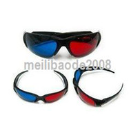 Wholesale 100pcs D digital video Glasses high quality Re useable Plastic Frame Resin Lens Anaglyphic MGXA141