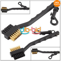 Wholesale Dual Bristles Golf Club Brush Cleaner Ball Way Cleaning Clip Plastic Groove