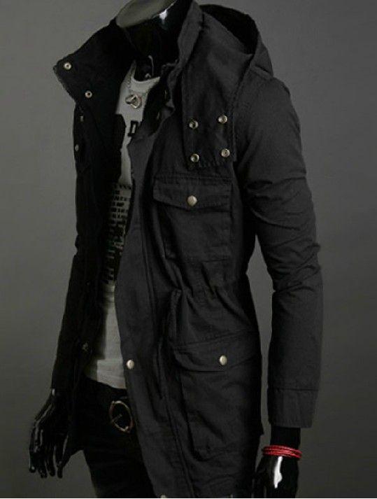 2013 New Cotton Hooded Coat Korean Trend in Long Jacket Men Coat ...