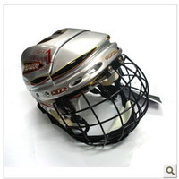 Wholesale Ice hockeyRoller hockey helmet with face shield in blue and black