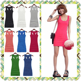 Wholesale Summer Tank Top Women Casual Fashion Dresses Womens Dresses Fashion Color Mix Batch