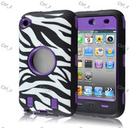 Wholesale Outstanding Zebra Skin hybrid in silicone pc Pattern Rugged Case For Touch th