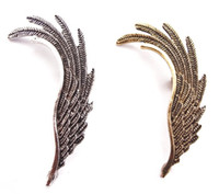 Silver South American Gift New European Style Punk Gold Silver Plated metal Wing (Left) Ear Stud Ear Cuff 20pcs lot