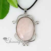 espejo de piedra en forma de colgante de collar de la joyería china Spsp50024 joyería de moda barato joyería del rhinestone al por mayor