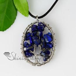 round semi precious stone lapis lazuli pendants with leanther necklaces jewelry jewellery semi precious stones Spsp50045