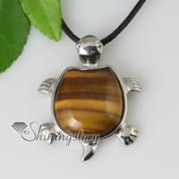 tortuga semi precioso colgante de piedra de piedra auténtica joyas de piedras preciosas joyas hechas a mano de joyería de moda china barata Spsp60052 plata