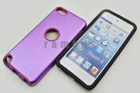 Wholesale 300pcs Colorful Soft Silicon Hard Metal Case Cover for iPod Touch